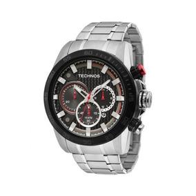 Relógio Masculino Technos Sports Js25ap/1r 46mm Prata