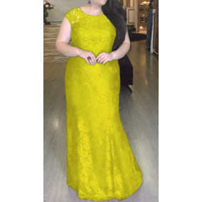 Vestido De Festa Longo Renda, Plus Size, Pronta Entrega J007
