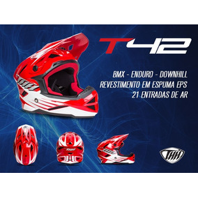 Capacete Bike Full Face Downhill Thh T-42 #2 - Xl Vermelho
