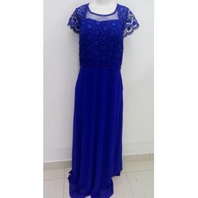 Vestido Plus Sizer Festa Casamento Madrinha Azulroyal