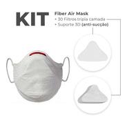 Kit Máscara Proteção Fiber Knit 3d Sport Air Mask Original