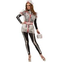 Esqueleto Disfraz Enfermera De Rubie Con Accesorios, Negro/