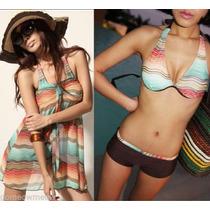 Trajes De Baño 3 Piezas, Bikinis Monokinis. $420.00 C/u