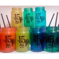 Souvenirs Frasco De Vidrio Vaso Color Personalizado!!