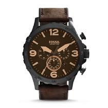 Relógio Fossil Jr1487 Couro Marrom Caixa Grande Original