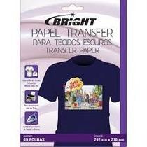 Papel Transfer P/ Tecidos De Algodão Escuro Bright C/5fls