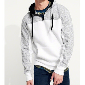 Blusão Half-zip Colorblock Hollister