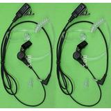 2 X Micrófono De Auricular/audífono Estilo Fbi Para Motorola
