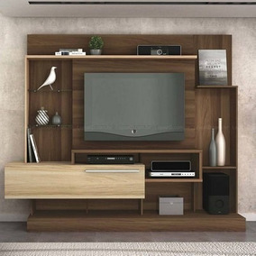 Rack Para Tv, Madera-teka, Bulk Home Supremo
