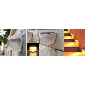 Foco Lampara Solar Con Sensor De Luz 6 Led Jardin Exterior
