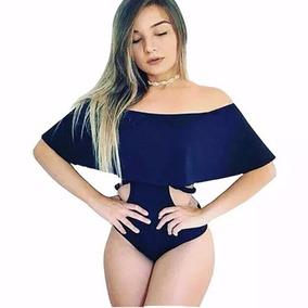 Body Feminino Aberto Na Lateral Moda Feminina Babado Trança