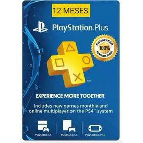 Playstation Plus / 1 Ano, 12meses/ Envio Imediato / Ps4, Ps3