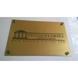 Placa De Acrílico Bronce/plata Grabadas Congreso