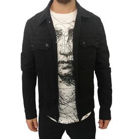Jaqueta Jeans Rasgado Destoyed Slim Masculina