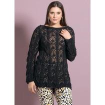 Blusa Plus Size Trico Preto - Roupa G - Black Friday