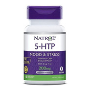 5-htp Mood & Stress Natrol 60 Tabletes 200mg Time Release