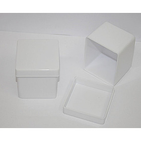 250 - Caixinha Acrilica 4x4x3,3cm Para Lembrancinhas Branca