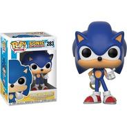 Boneco Funko Pop Games Sonic Hedgehog 283 Com Anel Ouriço