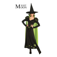 Fantasia Feminina Adulto Bruxa Verde Halloween
