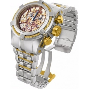 Relógio Invicta Zeus 14427 Prata Dourado Prova Dagua Mp09