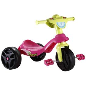 Triciclo Kid Cross Rosa Bandeirante - 627