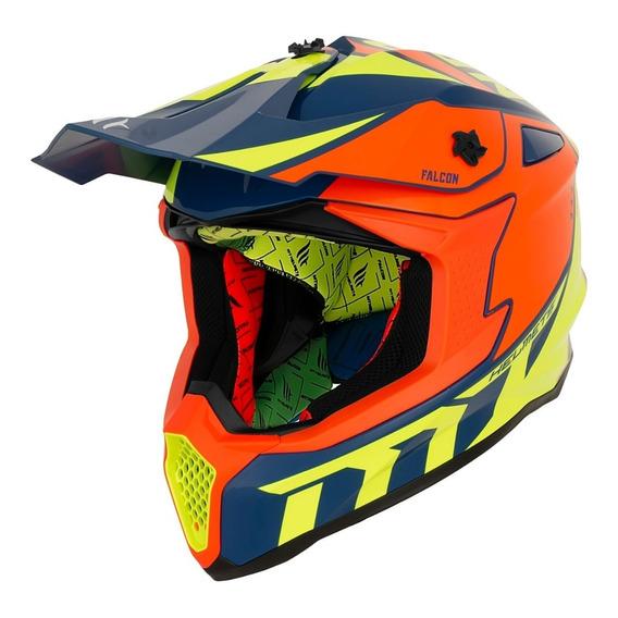 Casco Motocross Enduro Mt Falcon Interpose Atv En Fas Motos