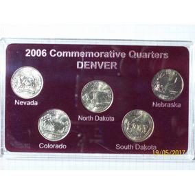 Estados Unidos Colección 5 Cuartos Dólar 2006 Denber Con Est