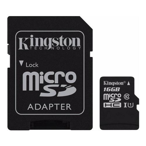 Cartão de memória Kingston SDC10G2 com adaptador SD 16GB
