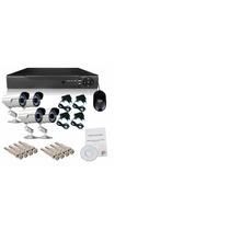 Kit Com 4 Cameras Led Infra Mais Dvr E Conectores Completo