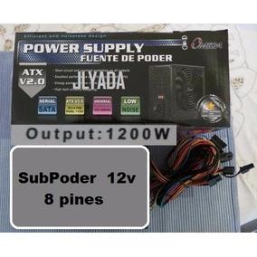 Fuente De Poder Omega De 1200w Reales Box Nueva Sp 8 Pines.