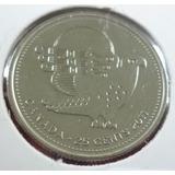 Canada Moneda Naturaleza Halcon Peregino 25 Centavos 2011unc