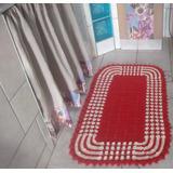Tapete De Crochê Retangular P\ Cozinha,quarto,porta,e Sala