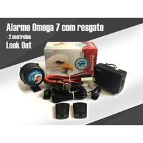 Alarme De Carro Omega 7 Universal Com Resgate - 2 Controles