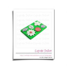 Molde De Plástico Para Fondant Flores B Pasta Flexible #1239