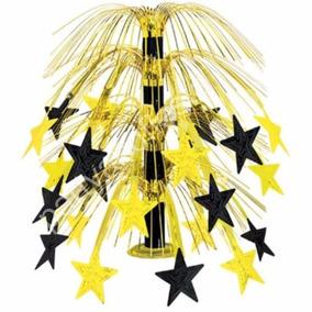 Centro De Mesa Estrellas Oro Fiesta Animacion