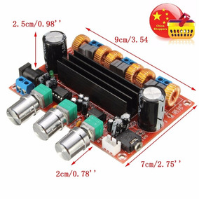 Amplificador Clase D 2.1 De 200w Para Auto, Moto