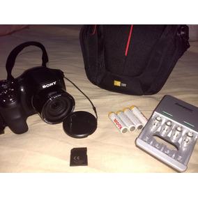 Camara Sony Dcs H200+memoria32gb+estuche+cargador Y Baterías