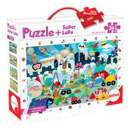 Puzzle 36 Piezas Grandes + Lupa - Rompecabezas Niños
