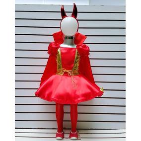 Disfraz Niñas Tallas 6 Y 8 Años Diabla Diablita Halloween