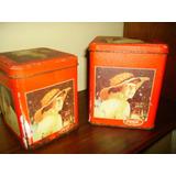 Par De Viejas Latas Cuadradas Coleccionables De Coca Cola