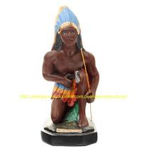 Escultura Caboclo Mata Virgem Imagem 40cm Estatua Umbanda Ml