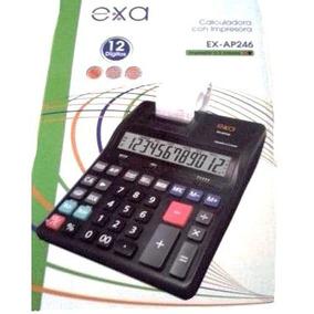 Calculadora Exa Con Impresora 12 Digitos