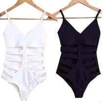 Body Feminino Com Recorte Lateral Panicat Blusa Sem Renda