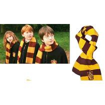 2 Bufanda Harry Potter Con Escudo Gryffindor Envío Gratis