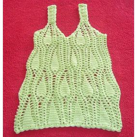 Top Tejido A Crochet En Hilo Algodon Calidad De Exportacion!