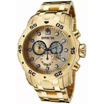 Lindo Relógio Invicta Pro Diver Scuba 0074 Banhado Ouro Iv46