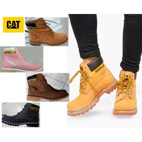 Zapatos Para Damas, Modelo Caterpillar - Punta De Acero.