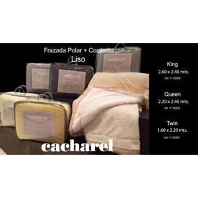 Frazadas Doble Cacharel Polar + Corderito 2 1/2 240 X 220