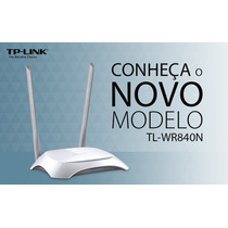 Roteador Wireless Tp-link Tl-wr840n 300mbps -2 Antenas 5 Dbi