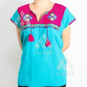 Lote 12 Blusas Artesanales Mexicanas De Estambre En Colores